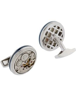 Vintage Skeleton Clockwork Cufflinks