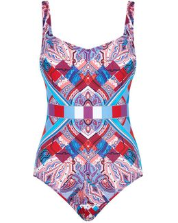 Square Neck Printed Swimsuit