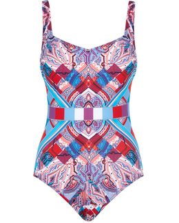 Harlequin V-neck One-piece Swimsuit