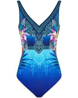 V-neck Printed Swimsuit
