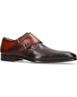 Two Tone Triple Monk Shoes