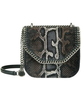 Falabella Box Mini Snake-print Cross-body Bag