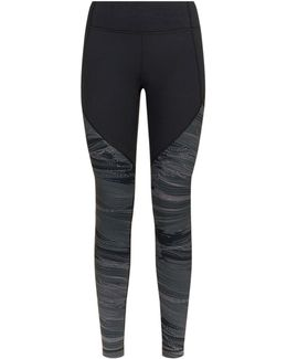 Mirror Printed Panel Fitted Leggings