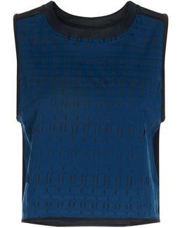Ladder Mesh Muscle Tank Top