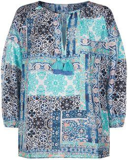 Silk Road Print Tunic Top