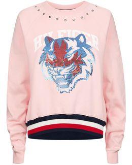 Sequin Tiger Sweatshirt