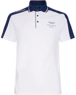 Aston Martin Contrast Panel Polo Shirt