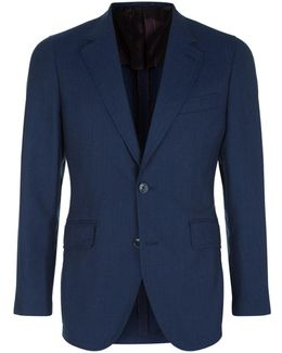 Wool-cotton Hopsack Jacket