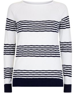 Knitted Striped Long Sleeve Top