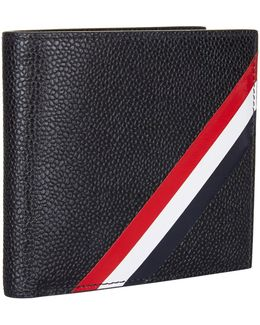Pebble Grain Diagonal Stripe Bifold Wallet
