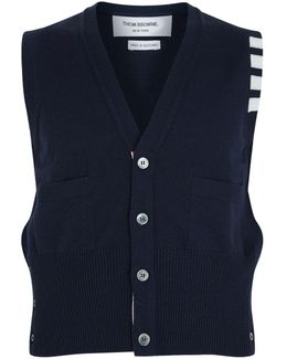 Classic V-neck Vest Cardigan