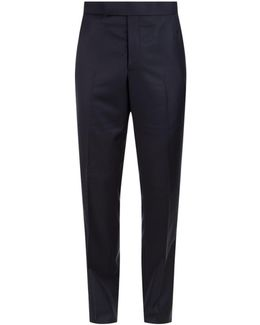 Backstrap Wool Twill Trousers