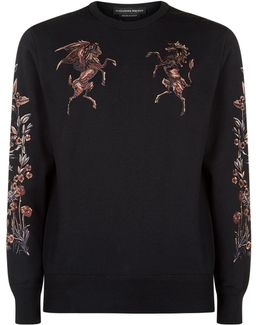 Embroidered Unicorn Sweatshirt