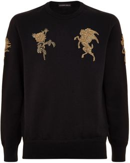 Bullion Embroidered Sweatshirt