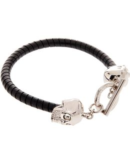Double Skill T-bar Leather Bracelet