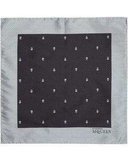 Microdot Skull Pocket Square