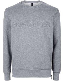 Embossed Cotton Sweatshirt