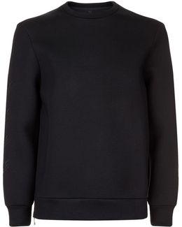 Arrow Embroidered Neoprene Sweatshirt