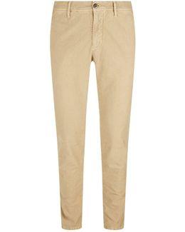 Slim Fit Twill Trousers