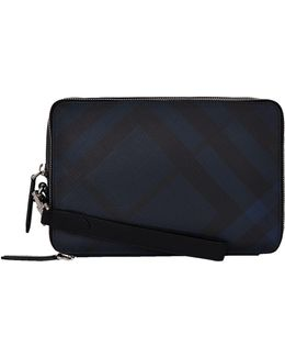 Checked Clutch Bag