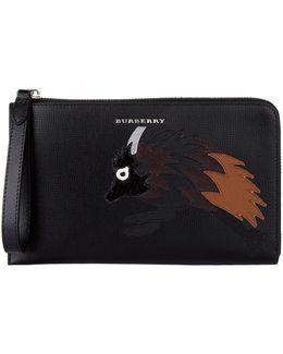 Beast Patchwork Zip Around Wallet