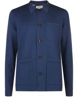 Cotton Cashmere Workwear Knit Jacket