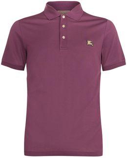 Equestrian Knight Hardware Cotton Polo Shirt