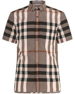 House Check Print Short Sleeve Shirt