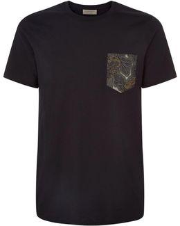 Beasts Print Chest Pocket T-shirt
