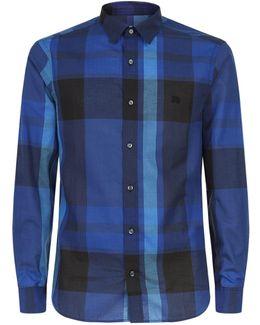 Bright Check Cotton Shirt