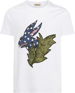 Oscar Rabbit Motif Cotton T-shirt