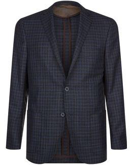 Silk And Virgin Wool Check Jacket