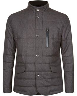 Quilted Jacket With Bomber Layer