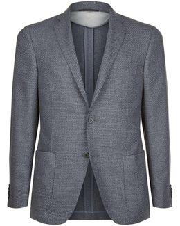 Virgin Wool Basket Weave Jacket