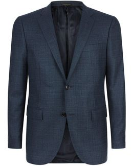 Silk-wool Tonal Weave Blazer
