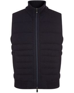 Knit Front Gilet