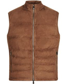 Padded Suede Gilet
