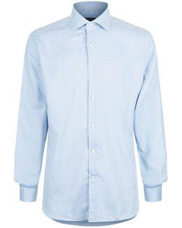 Tonal Herringbone Shirt