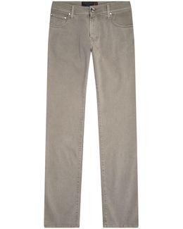 Slim Twill Trousers