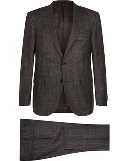 Windowpane Check Suit