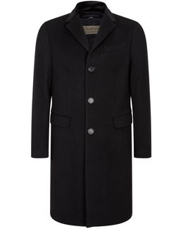 Single-breast Wool And Cashmere Coat