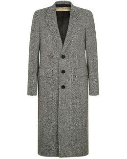 Monochrome Wool Overcoat