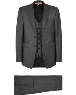Wool Herringbone Three-piece Suit
