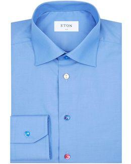 Slim Fit Coloured Button Shirt