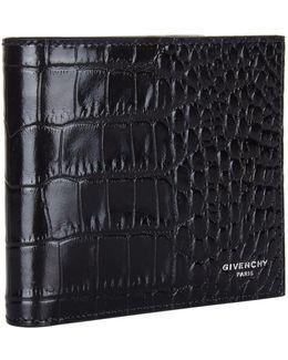 Crocodile-embossed Bifold Wallet