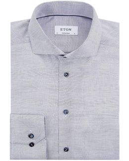 Contrast Piping Contemporary-fit Shirt
