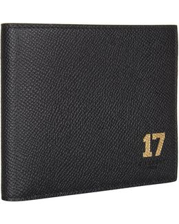 Grained Leather Bifold Wallet