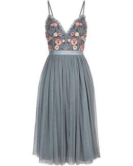 Whisper Embellished Floral Midi Dress