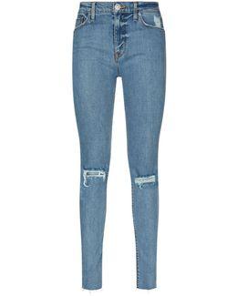 Nico Mid-rise Skinny Rip Knee Jeans