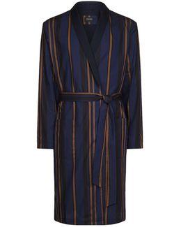 Stripe Print Robe